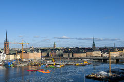 Ansicht von Gamla Stan (die alte Stadt) Lizenzfreie Stockbilder