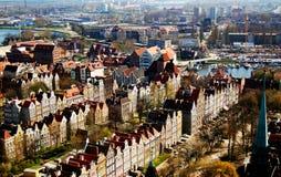 Ansicht von Gdansk (Danzig) stockbilder