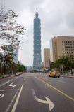 Ansicht von Gebäude Taipehs 101 in Taipeh, Taiwan Lizenzfreie Stockfotos