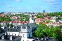 Ansicht von Gediminas-Schloss nach das alte Vilnius Lizenzfreie Stockfotografie