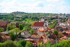 Ansicht von Gediminas-Schloss nach das alte Vilnius Lizenzfreie Stockbilder