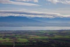 Ansicht von Genf Stockbild