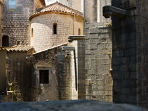 Ansicht von Girona - Sant Pere de Galligants Stockbilder
