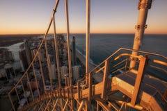 Ansicht von Gold- Coaststadtskylinen, von der Spitze des Gebäudes Q1 lizenzfreie stockfotografie