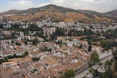 Ansicht von Granada Lizenzfreie Stockfotos