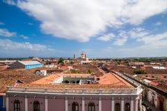 Ansicht von Granada-Stadt von Nicaragua Stockfoto