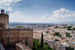 Ansicht von Granada vom Alhambra Lizenzfreies Stockfoto