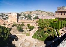 Ansicht von Granada vom Alhambra Lizenzfreie Stockfotos