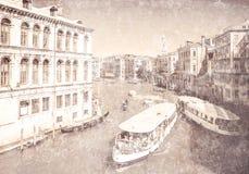 Ansicht von Grand Canal Venedig Italien vektor abbildung