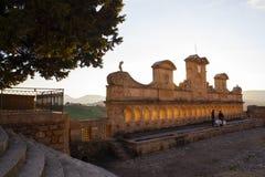 Ansicht von Granfonte, barocker Brunnen in Leonforte Lizenzfreies Stockfoto