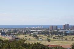 Ansicht von Greyville-Rennstrecke und von königlichem Durban-Golfclub Lizenzfreie Stockbilder