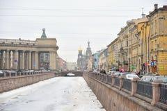 Ansicht von Griboyedov-Kanal in St Petersburg Lizenzfreies Stockfoto