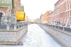 Ansicht von Griboyedov-Kanal in St Petersburg Stockfotos