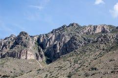 Ansicht von Guadalupe Mountains National Park stockfoto