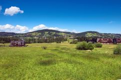 Ansicht von Gubalowka, Zakopane lizenzfreies stockbild