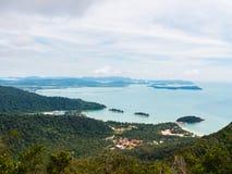 Ansicht von Gunung Mat Cincang Stockfotografie