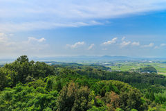 Ansicht von Haizuka-Observatorium um kikuchi Schloss Stockbilder