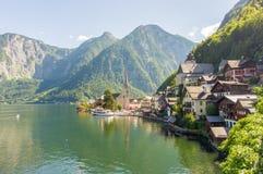 Ansicht von Hallstatt-Dorf lizenzfreie stockfotografie