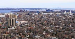 Ansicht von Hamilton und von Burlington von der Niagara-steilen Böschung Lizenzfreies Stockbild