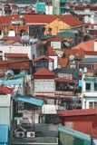 Ansicht von Hanoi-Dachspitzen in Vietnam Lizenzfreie Stockbilder