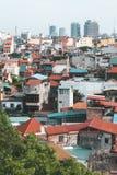 Ansicht von Hanoi-Dachspitzen in Vietnam Lizenzfreie Stockfotos