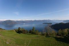 Ansicht von Hardangerfjord Lizenzfreies Stockbild