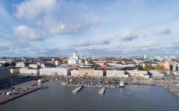 Ansicht von Helsinki-Kathedrale, Vogelperspektive stockfotos