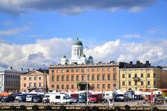 Ansicht von Helsinki vom Meer Lizenzfreie Stockfotos