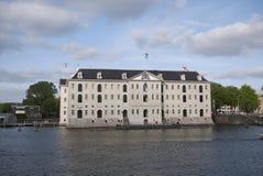 Ansicht von Het Scheepvaartmuseum lizenzfreies stockfoto