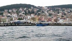 Ansicht von Heybeliada-Insel vom Marmarameer, nahe Istanbul, die Türkei Stockbilder