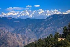 Ansicht von Himalaja von Mussoorie Stockfotos