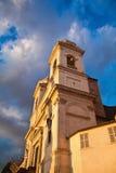 Ansicht von historischen Gebäuden in Rom, Italien Lit mit einem Sonnenuntergang L Lizenzfreie Stockfotografie