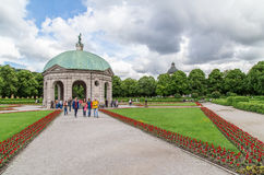 Ansicht von Hofgarten, München Juni 2016 Lizenzfreie Stockbilder