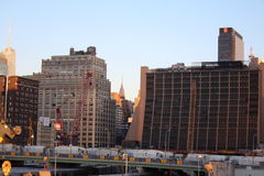 Ansicht von hoher Linie New York Stockbilder