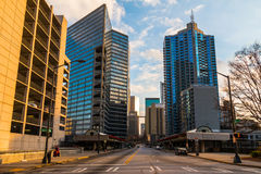 Ansicht von im Stadtzentrum gelegenem Atlanta, USA Lizenzfreies Stockbild