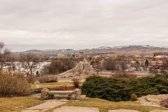 Ansicht von im Stadtzentrum gelegenem Boise von Boise Depot Stockfotos