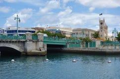 Ansicht von im Stadtzentrum gelegenem Bridgetown, von Hauptstadt und größten Stadt in Barbados stockfotos