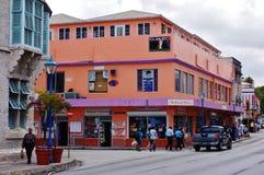 Ansicht von im Stadtzentrum gelegenem Bridgetown, von Hauptstadt und größten Stadt in Barbados stockbild
