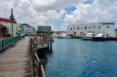 Ansicht von im Stadtzentrum gelegenem Bridgetown, von Hauptstadt und größten Stadt in Barbados Lizenzfreies Stockbild