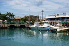Ansicht von im Stadtzentrum gelegenem Bridgetown, von Hauptstadt und größten Stadt in Barbados Lizenzfreie Stockbilder