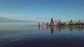 Ansicht von im Stadtzentrum gelegenem Chicago stock video
