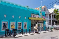 Ansicht von im Stadtzentrum gelegenem Key West, Florida Stockfotografie