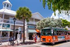 Ansicht von im Stadtzentrum gelegenem Key West, Florida Lizenzfreie Stockfotos