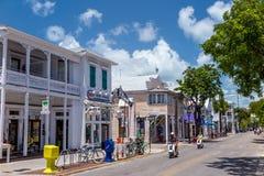 Ansicht von im Stadtzentrum gelegenem Key West, Florida Lizenzfreies Stockfoto
