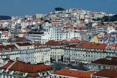 Ansicht von im Stadtzentrum gelegenem Lissabon Portugal stockfotografie