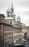 Ansicht von im Stadtzentrum gelegenem Nürnberg Stockbild