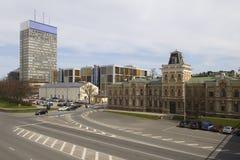 Ansicht von im Stadtzentrum gelegenem Riga, Lettland Stockbild