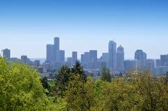 Ansicht von im Stadtzentrum gelegenem Seattle Stockfotos