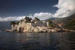 Ansicht von Insel St. Stephan vom Meer Lizenzfreie Stockfotografie