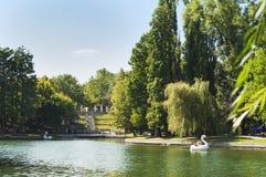 Ansicht von IOR-Park an einem Sonntag Nachmittag lizenzfreies stockfoto